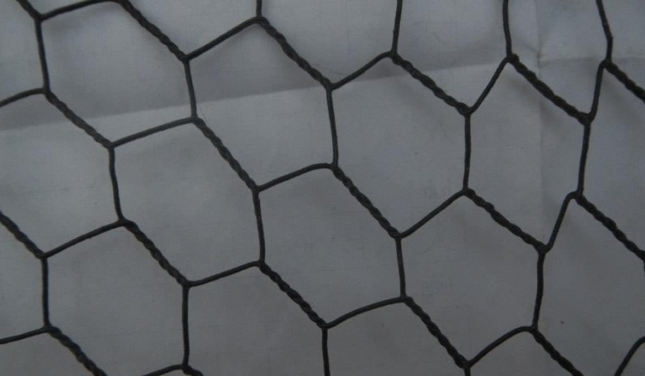 Black Vinyl Coated Hexagonal Mesh Chicken Wire Steel Fencing